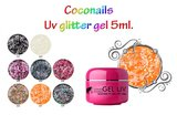 Uv color gel met glitter Licht oranje_
