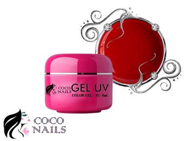 Coconails Uv color gel Pure red