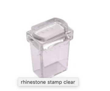 Rhinestone Clear stamp